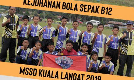 Kejohanan Bola Sepak MSSD daerah Kuala Langat (B12)
